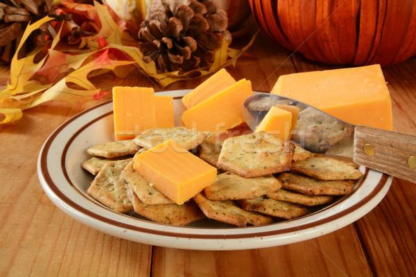 Сток-фото: праздник · чеддер · сыра · таблице · пластина