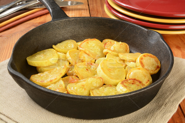 Sauteed yellow squash Stock photo © MSPhotographic