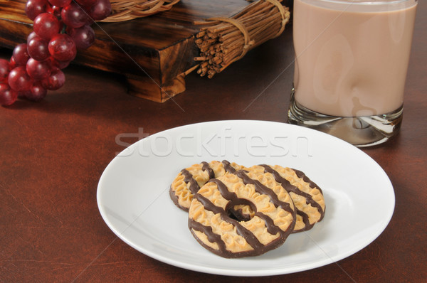 Cookies and milk Stock photo © MSPhotographic