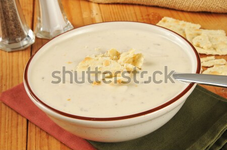 Large serving bowl of soup Stock photo © MSPhotographic