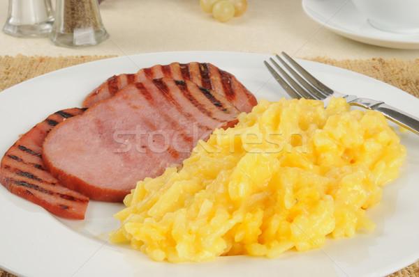 Ham and au gratin potatoes Stock photo © MSPhotographic