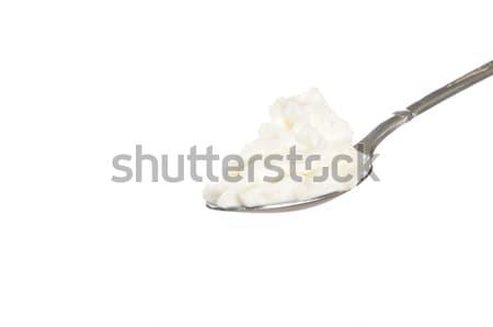 Chantilly branco comida fundo colher doce Foto stock © MSPhotographic