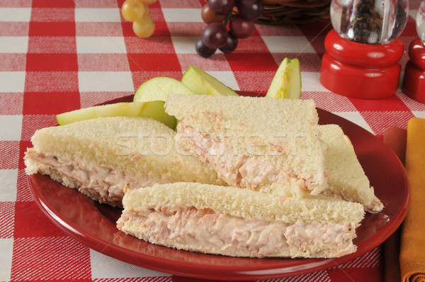 Tuna sandwich with sliced apple Stock photo © MSPhotographic