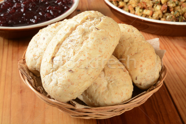 Whole grain dinner rolls Stock photo © MSPhotographic