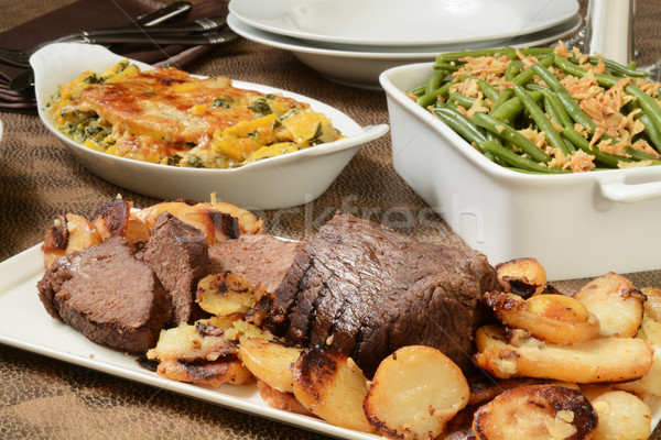 Stock photo: Well done roast beef