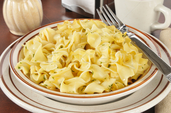 Buttered noodles with parsley Stock photo © MSPhotographic