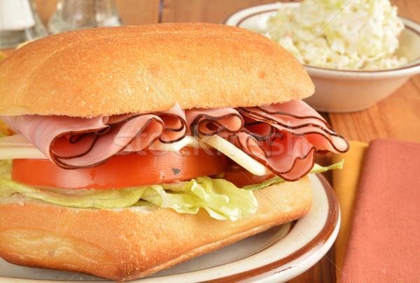 Ham and cheese sandwich closeup Stock photo © MSPhotographic