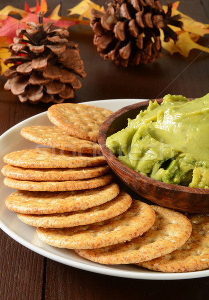 Holiday crackers and guacamole Stock photo © MSPhotographic