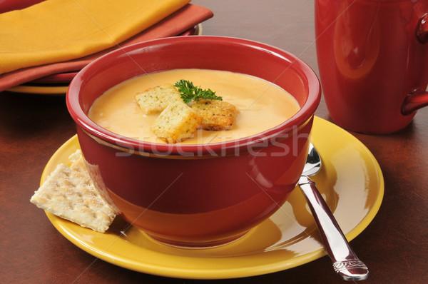 ıstakoz çanak fincan çorba yemek plakalar Stok fotoğraf © MSPhotographic