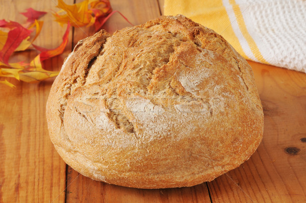 Loaf of artisan whole wheat bread Stock photo © MSPhotographic