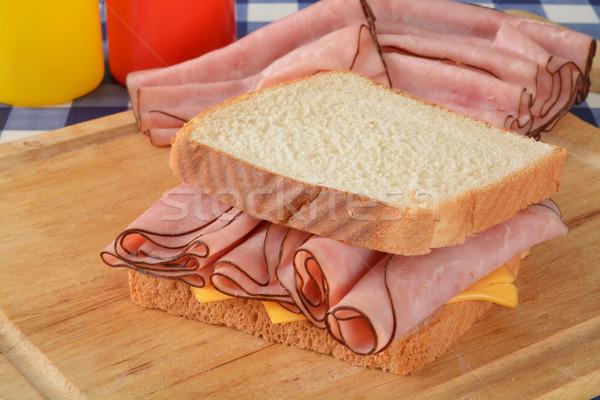 Ham and cheese sandwich Stock photo © MSPhotographic