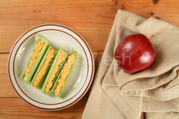 Zeller sajt lövés magasról fotózva kilátás gyümölcs Stock fotó © MSPhotographic