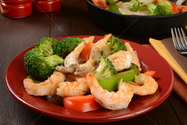 Shrimp stir fry Stock photo © MSPhotographic