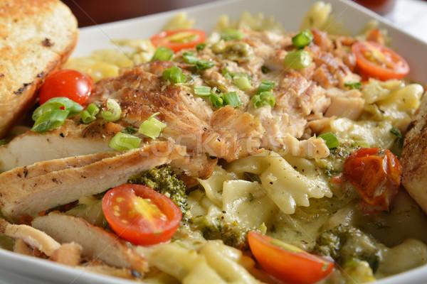 Cajun pollo pasta piatto primo piano poco profondo Foto d'archivio © MSPhotographic