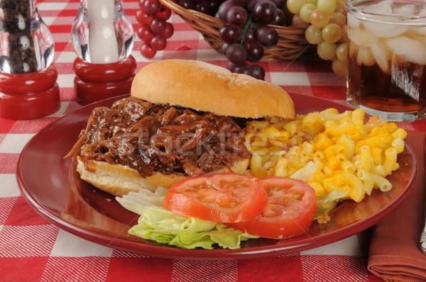 Barbecue beef sandwich Stock photo © MSPhotographic