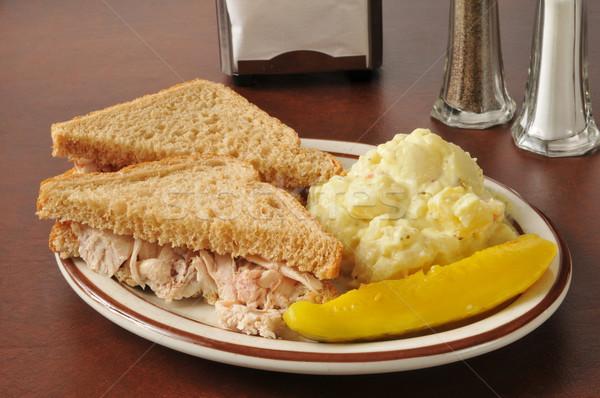 Chicken sandwich with potato salad Stock photo © MSPhotographic