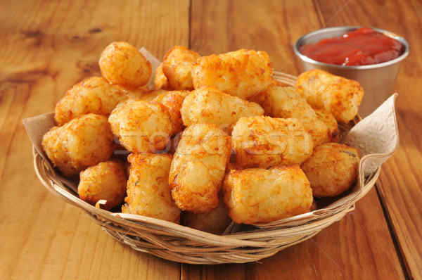 Tater tots and catsup Stock photo © MSPhotographic
