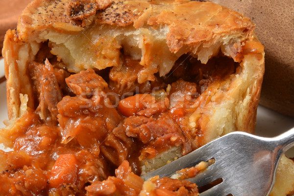 Steak ale pot tarte carottes Photo stock © MSPhotographic