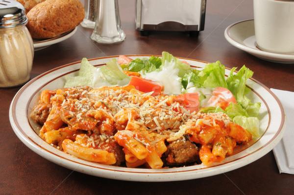 Italian sausage and meatball rigatoni Stock photo © MSPhotographic
