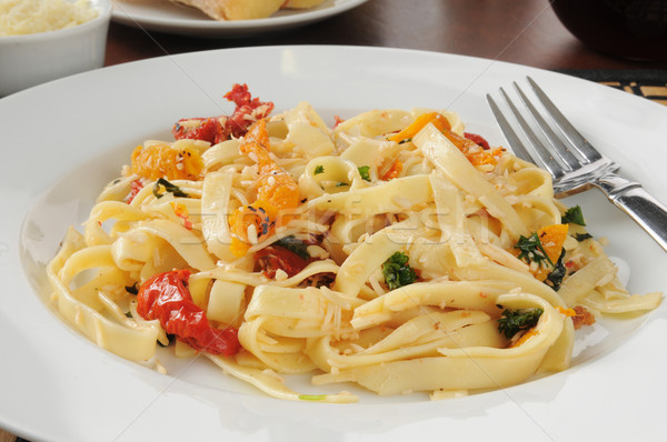 Fettuccini with roasted tomato Stock photo © MSPhotographic