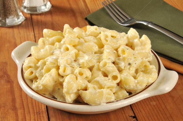 Parmesan macaroni and cheese Stock photo © MSPhotographic