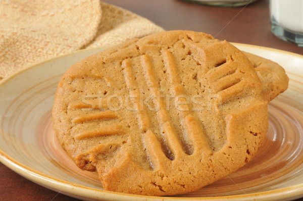 Stock photo: Fresh baked peanut butter cookies