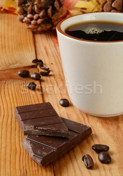 Cioccolato fondente tazza di caffè caffè bar cioccolato tavola Foto d'archivio © MSPhotographic