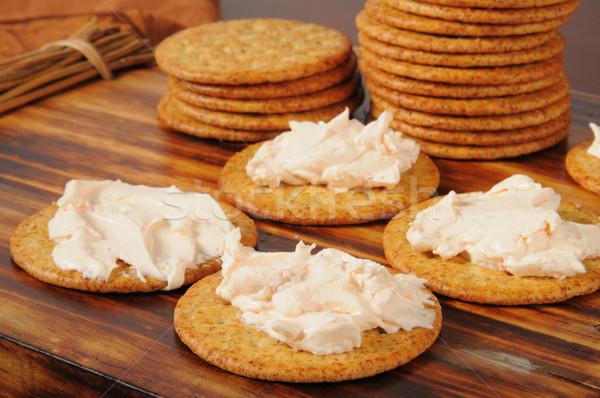 Cream cheese and crackers Stock photo © MSPhotographic