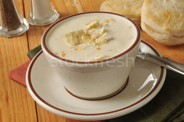 Cup of clam chowder Stock photo © MSPhotographic