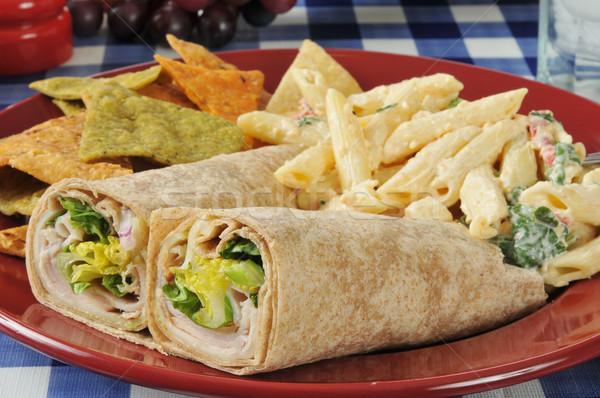 Chicken wrap sandwiches Stock photo © MSPhotographic