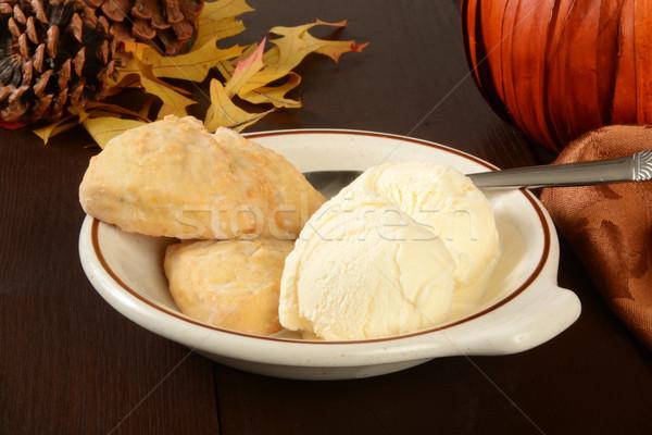 Zucca vaniglia gelato ciotola halloween vacanze Foto d'archivio © MSPhotographic