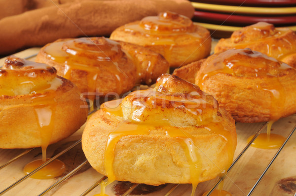 Fresh baked Orange Cinnamon Rolls Stock photo © MSPhotographic