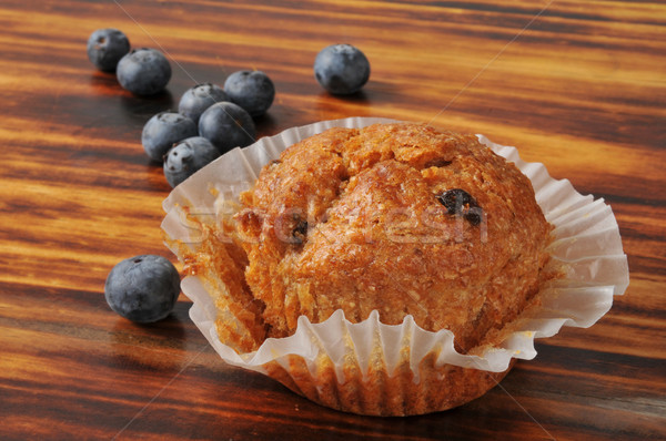 Blueberry bran muffin Stock photo © MSPhotographic