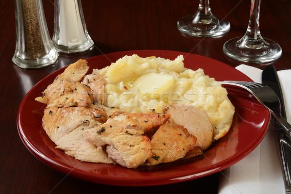 Turkey and potatoes Stock photo © MSPhotographic