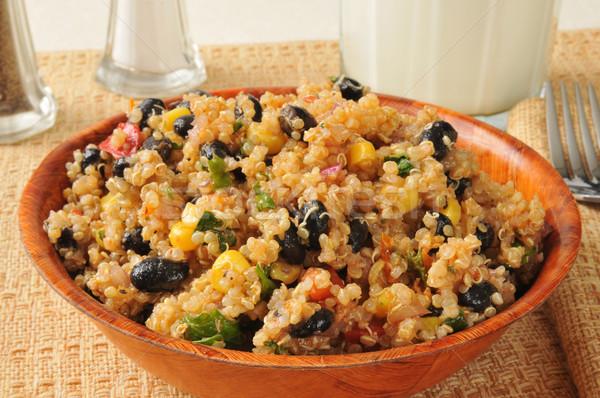 Black bean quinoa salad Stock photo © MSPhotographic