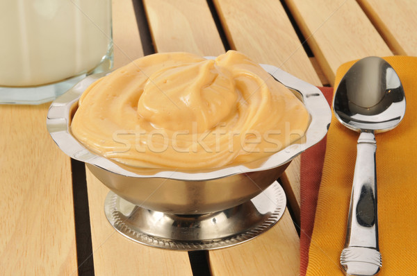 Butterscotch pudding with milk Stock photo © MSPhotographic