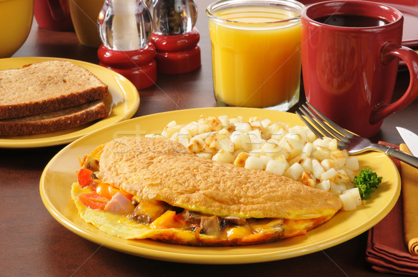 Western omelet Stock photo © MSPhotographic