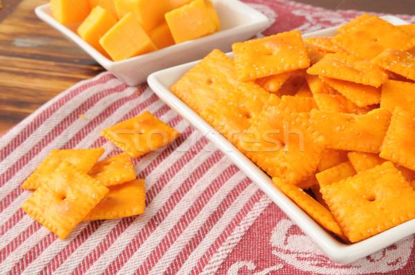Cheesy crackers Stock photo © MSPhotographic