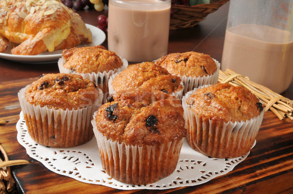 Golden bran muffins Stock photo © MSPhotographic