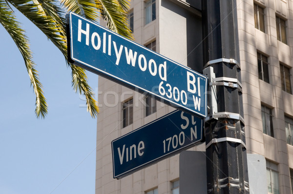 Hollywood and Vine street sign Stock photo © MSPhotographic