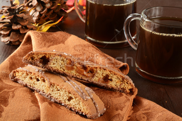 Biscotti and coffee Stock photo © MSPhotographic