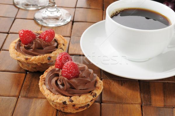 Kawy mus czekoladowy deser czekolady chip Zdjęcia stock © MSPhotographic