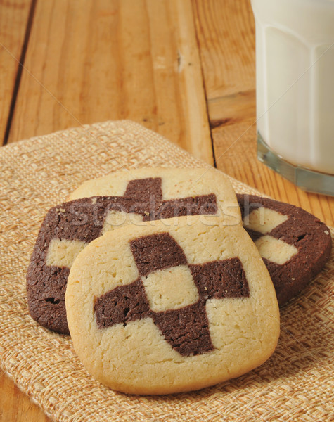 Checkerboard cookies Stock photo © MSPhotographic