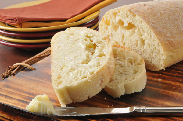 Buttered bread Stock photo © MSPhotographic