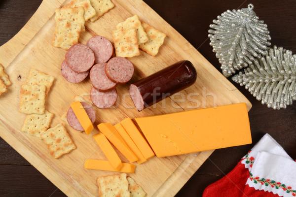 Yaz sosis peynir çedar atış Stok fotoğraf © MSPhotographic