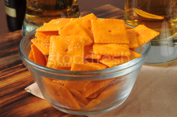Cheese flavored snack crackers Stock photo © MSPhotographic