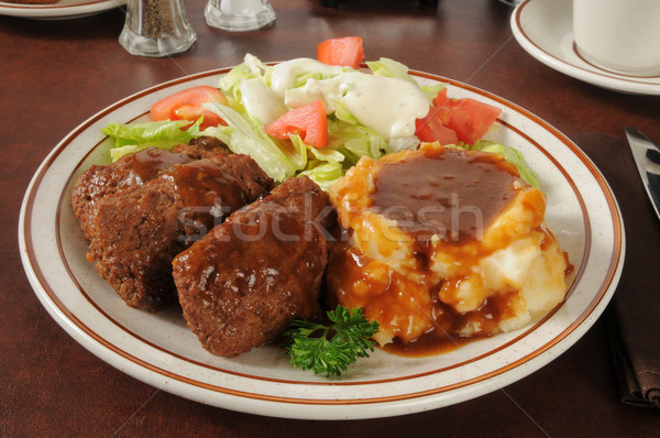 Meatloaf and potatoes Stock photo © MSPhotographic