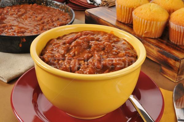 Bowl of chili Stock photo © MSPhotographic