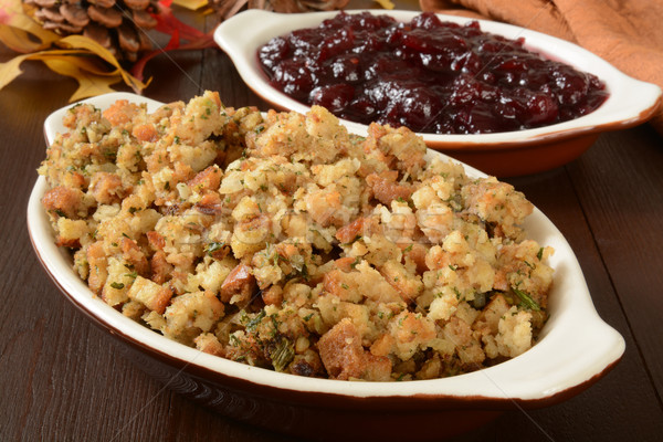 turkey stuffing and cranberry sauce Stock photo © MSPhotographic