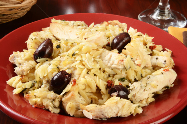 Greek style chicken and orzo Stock photo © MSPhotographic